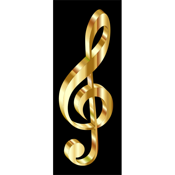 Gold 3D Clef