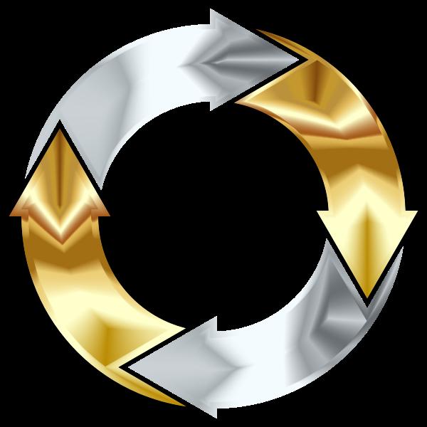 Gold And Silver Circular Arrows