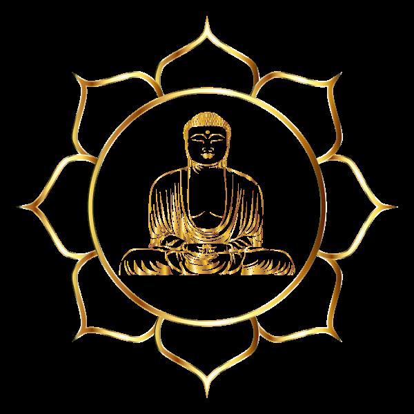 Gold Buddha Lotus No Background