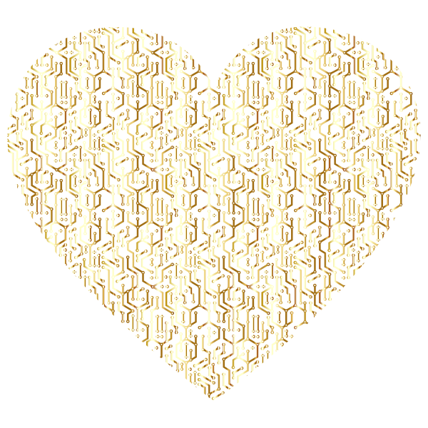 Gold electronic heart