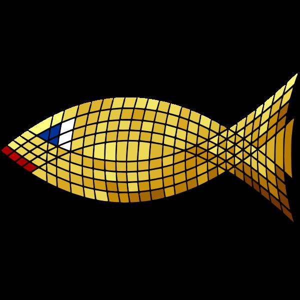 Vector clip art of mosaic of goldfish