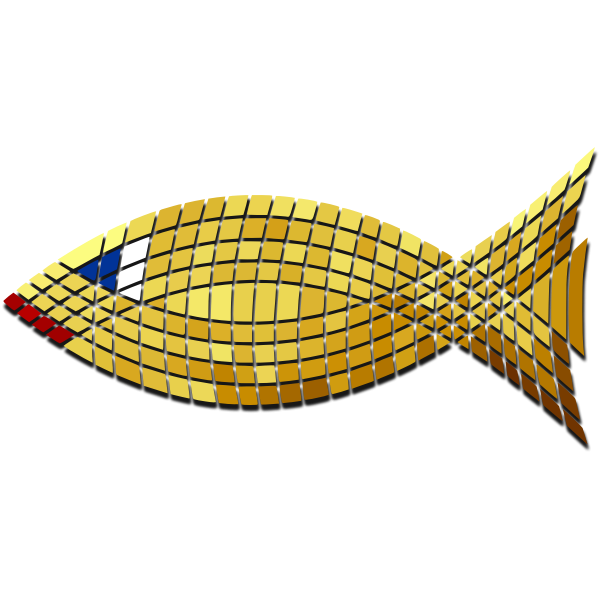 Vector clip art of mosaic of goldfish