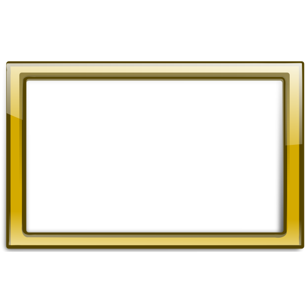 Gloss transparent yellow frame vector illustration