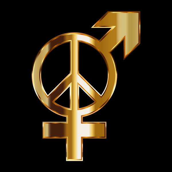 Gold Gender Peace No Background