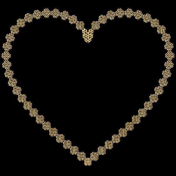 Gold Lattice Heart