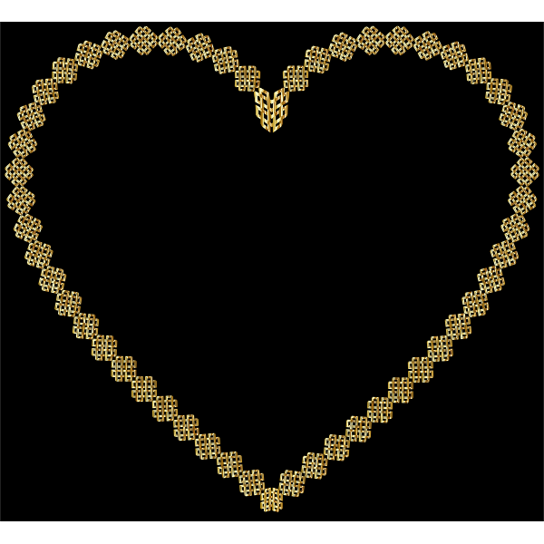 Gold Lattice Heart
