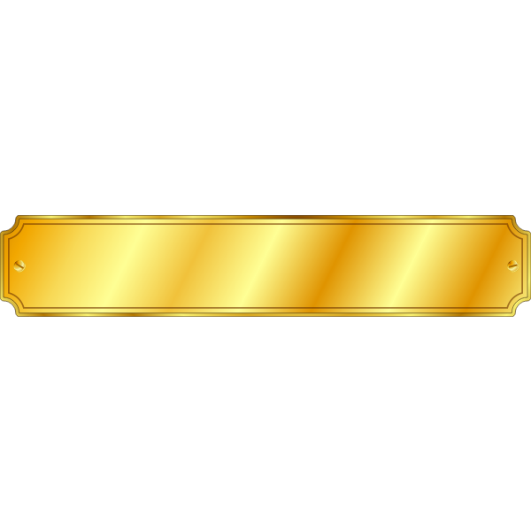 Vector illustration of shiny gold plaquette