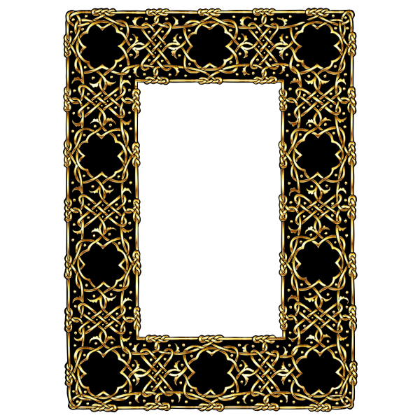 Gold Ornate Geometric Frame 2