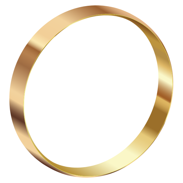 Gold ring standing
