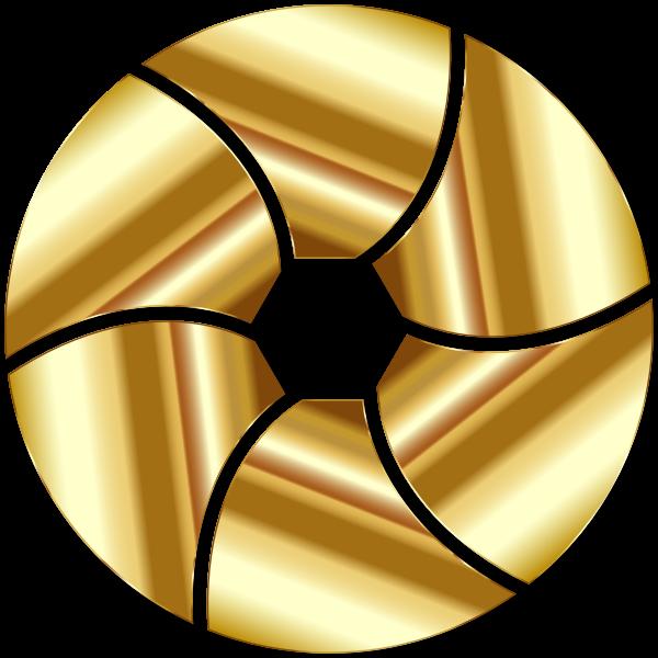 Gold Shutter Icon Enhanced