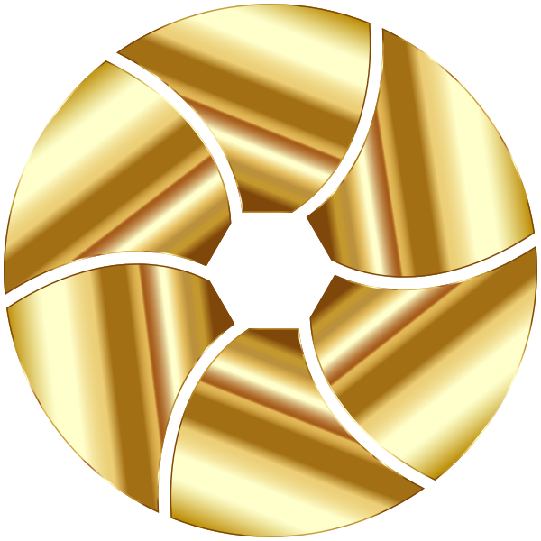 Gold Shutter Icon