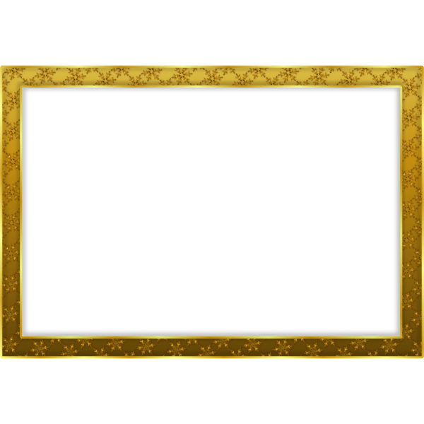 Gold snowflake frame vector graphics