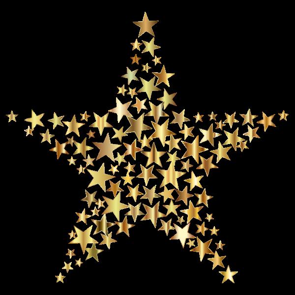 Gold Star Fractal No Background