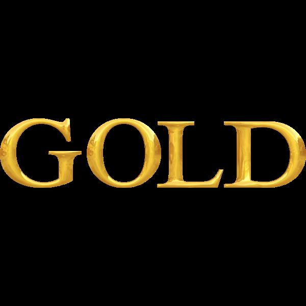 ''Gold'' typography