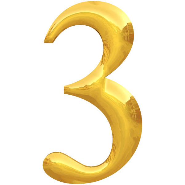Gold typography 3