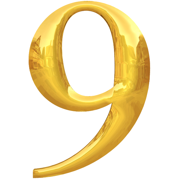 Gold typography 9