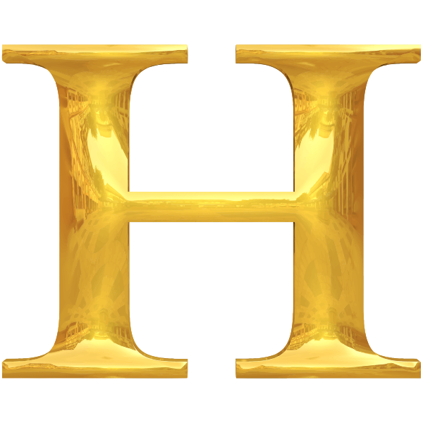 Gold typography H