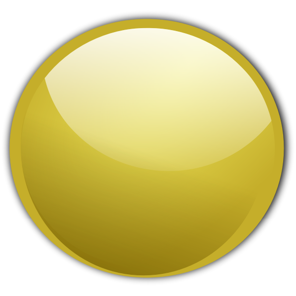 Glossy gold vector button