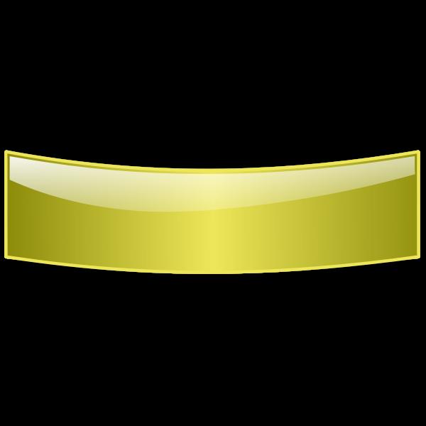 Golden web banner vector