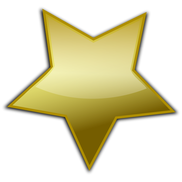 Golden star vector clip art
