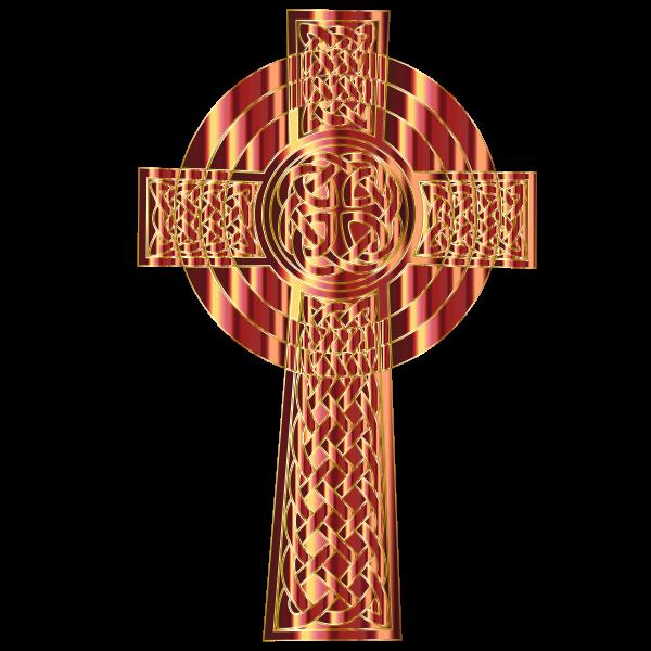 Golden Celtic Cross 3