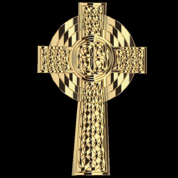 Golden Celtic Cross 4