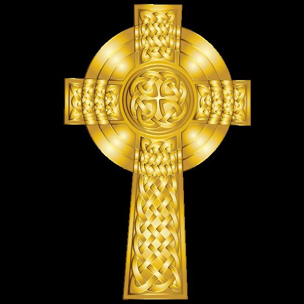 Golden Celtic Cross 5