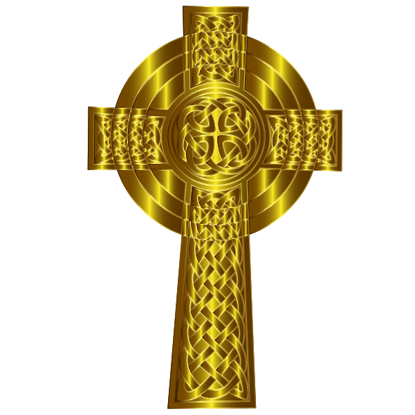Golden Celtic Cross 6