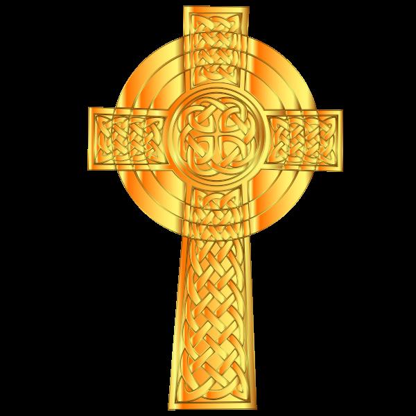 Golden Celtic Cross 7