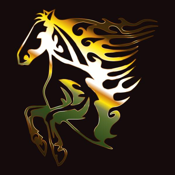 Golden Flame Horse 2