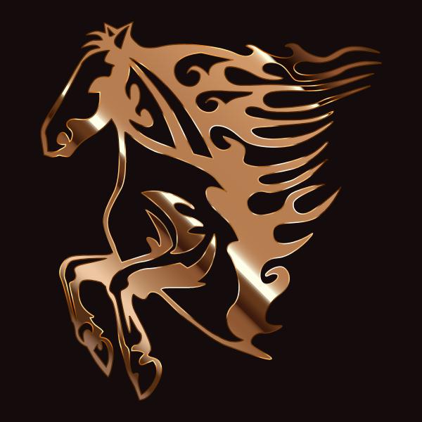 Golden Flame Horse 5