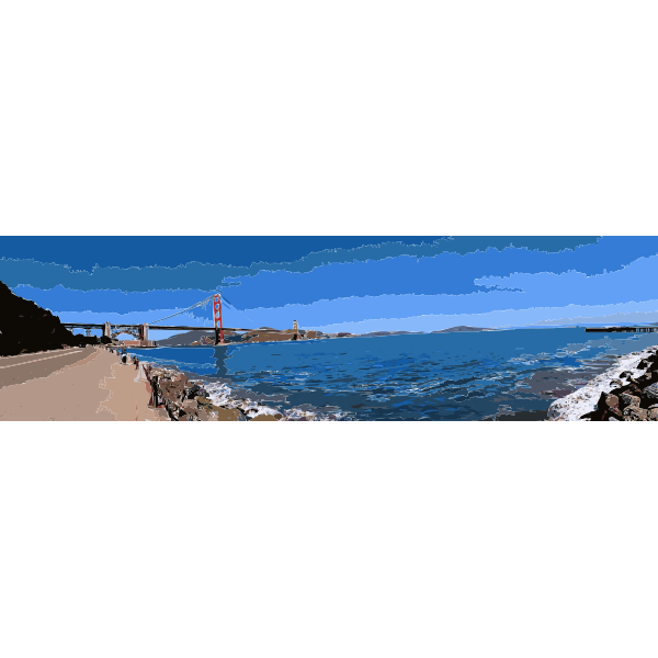 Golden Gate Bridge Panorama 2015090410