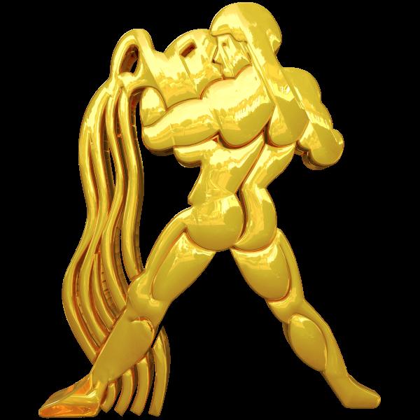 Golden Aquarius Horoscope Sign