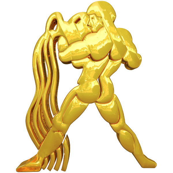 Golden Aquarius Horoscope Sign