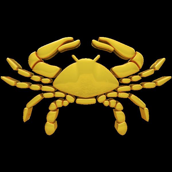 Cancer horoscope sign golden color