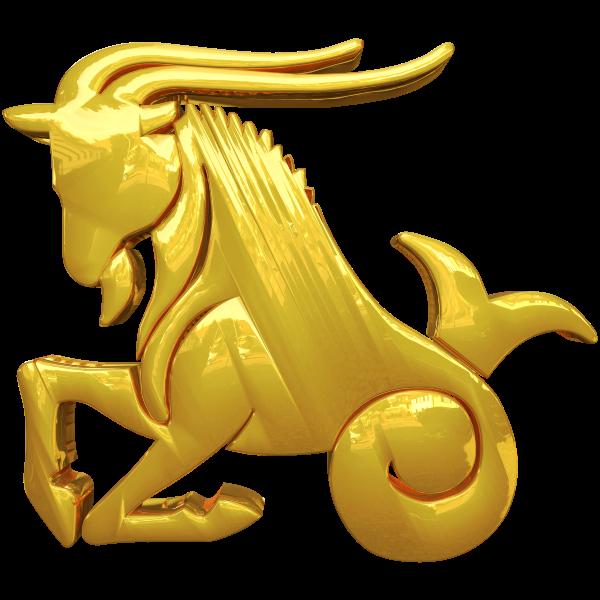 Golden Capricorn Zodiac Sign