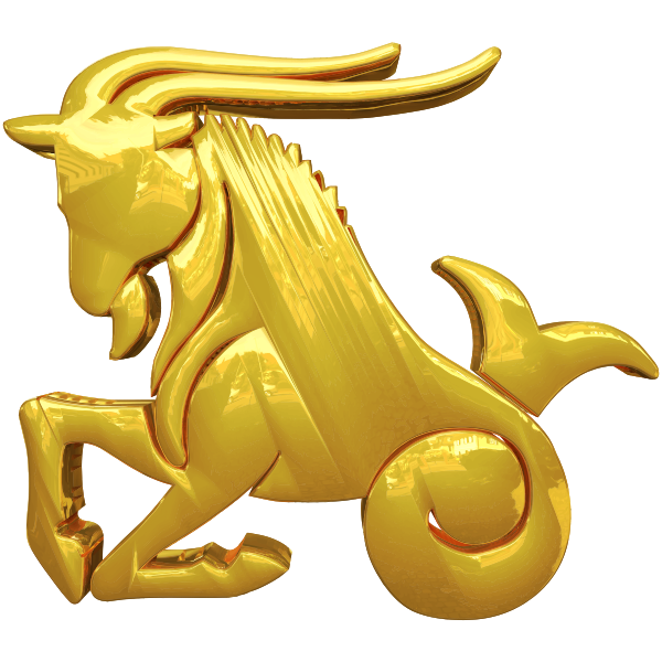 Golden Capricorn Zodiac Sign