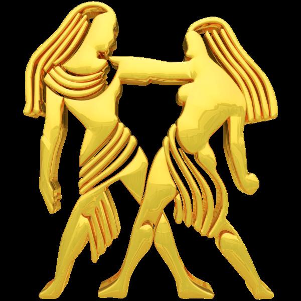 Golden Gemini Sign