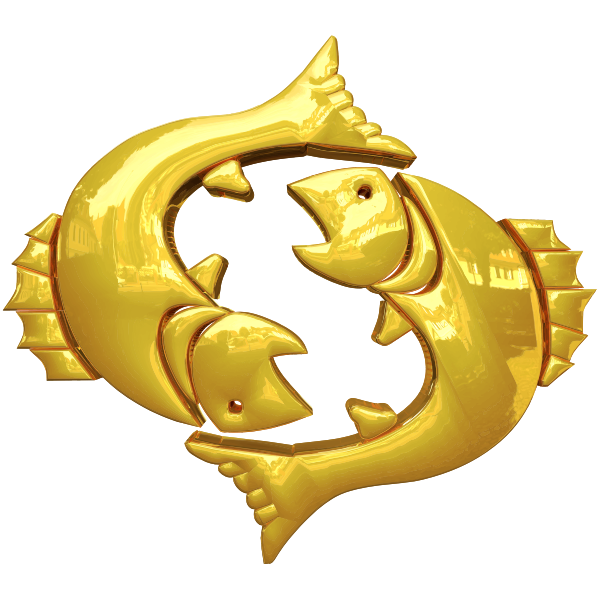 Golden Pisces Symbol