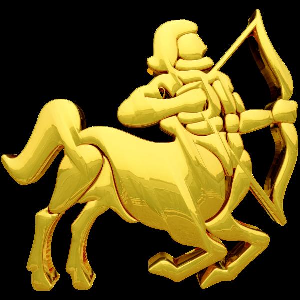 Golden Sagittarius Sign