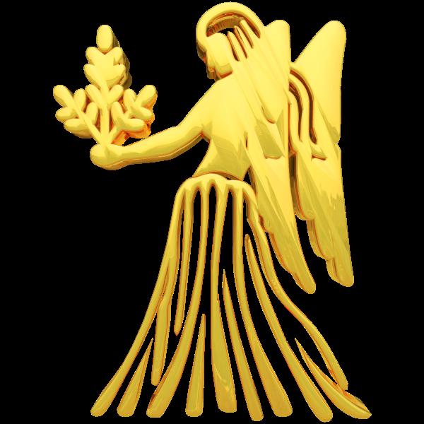 Golden Virgo Zodiac Symbol