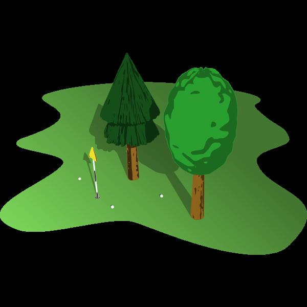Golf court vector illustration