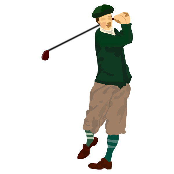 Golfer vector drawing