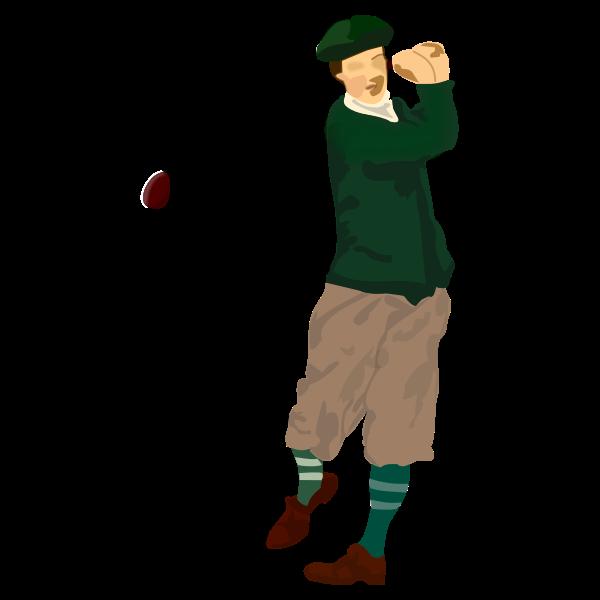 Golfer vector drawing