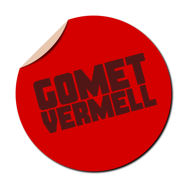 Gomet vermell red sticker vector image