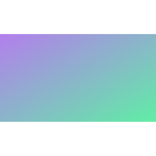 Gradient color green and turquoise