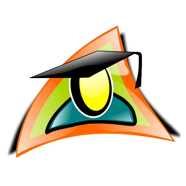 Graduate icon vector clip art