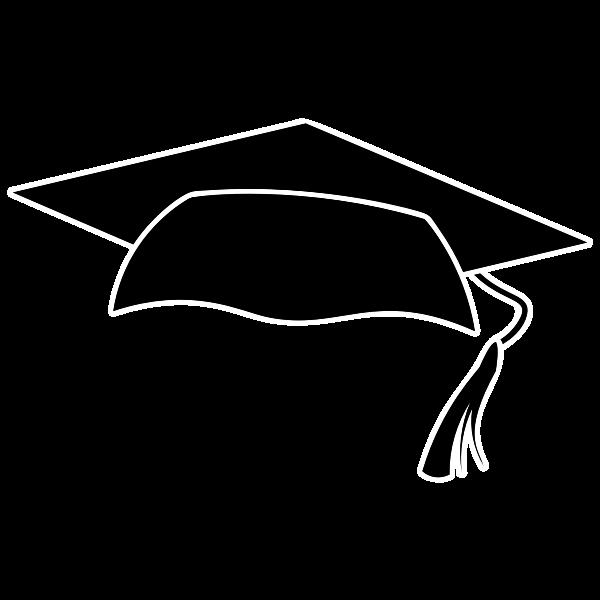 Graduation cap silhouette