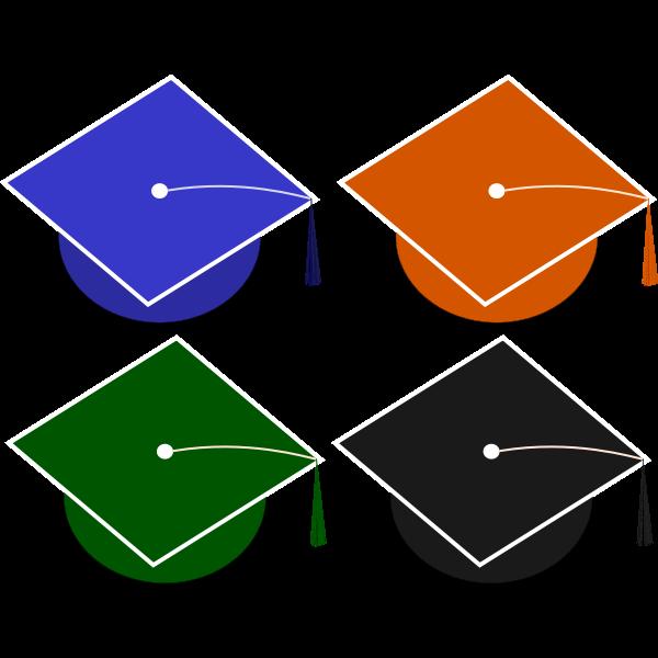 Graduation hats vector illustration