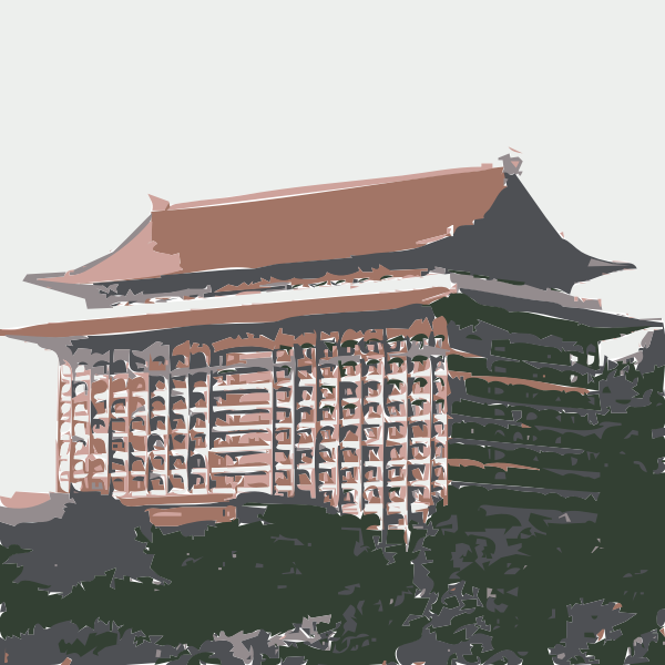 Grand Hotel Taipei vector drawing